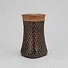 Stig lindberg, a stoneware vase, gustavsberg studio, signed.