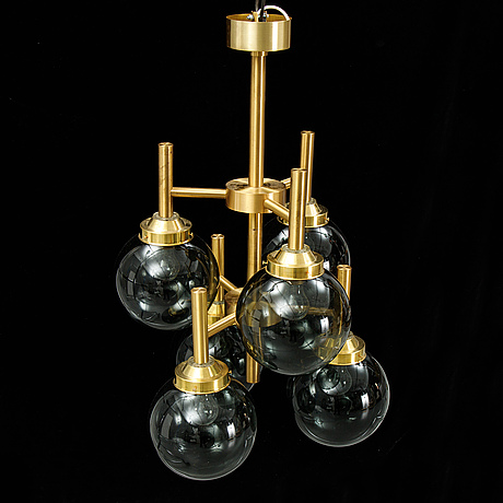 A luxus brass ceiling light, second half of the 20th century.