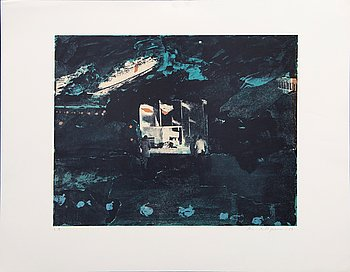 Ola Billgren, color lithograph, signed -83 EA.