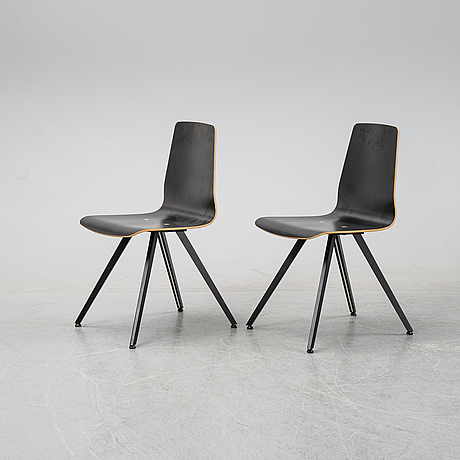 A set of six chairs by henrik lehm for naver collection.