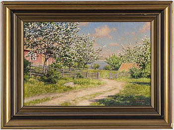 Johan Krouthén, oil on canvas, signed and dated 1918.