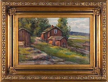 Ina Sjöström, oil on canvas, signed.