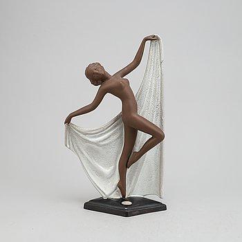 An earthenware sculpture, 'Adagio', by Josef Lorenzl, Goldscheider, West Germany,