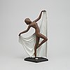 "Josef lorenzl, skulptur, ""adagio"", lergods, goldscheider, västtyskland, 1953-60."
