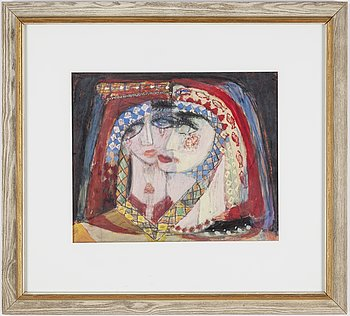 Max Walter Svanberg, mixed media signed an dated -59.