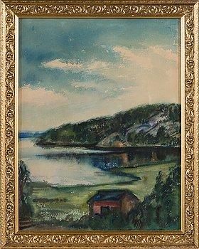 Mikko Carlstedt, akvarell, signerad.