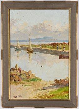 Birger Sandzén, oil on canvas, signed and dated -95.