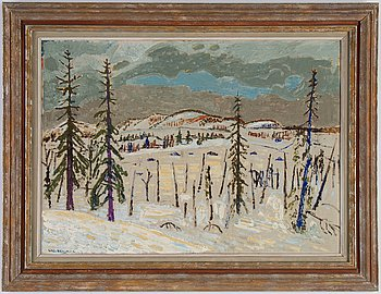 Uno Vallman, oil on canvas/panel, signed and dated -42.