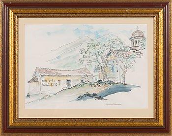 Henrik Tikkanen, watercolour, signed.