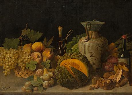 Giuseppe garinei, öljy kankaalle, signeerattu.