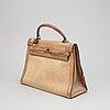 Hermès, a canvas and leather 'kelly 32' handbag, 1959.