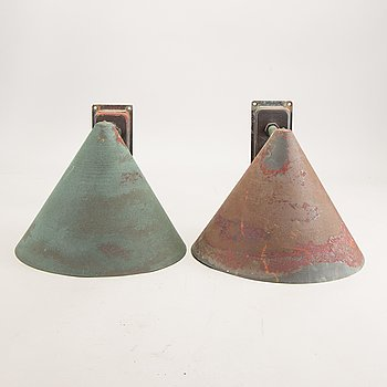 A pair of Westal copper wall lights alter part of the 20th century.