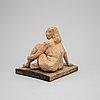 A arne jones terracotta sculpture, modell before 1945.