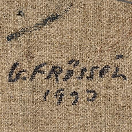 Gunnar frössén, oil on canvas signed and dated 1993 a tergo.