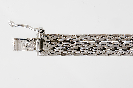 Armband, 18k vitguld, unoaerre, italien, 11g.
