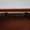 A mahogany bench, nordiska kompaniet, mid 20th century.