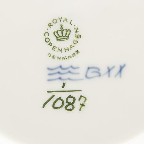 Servis muselmalet helblonde 27 dlr royal copenhagen 1900-talets andra hälft porslin.