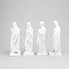 Four parian figurines, bing & gröndahl and royal copenhagen.