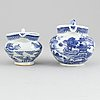 A group of chinese porcelain, qing dynasty, qianlong (1736-1795), jiaqing (1736-1820) and 19th/20th century, (9 pcs).