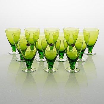Gunnel Nyman, Twelve GN 46 drinking glasses for Nuutajärvi Notsjö. In production 1949-1969.