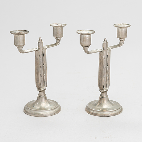 Paavo tynell, a pair of 1920/30's candlesticks for taito.