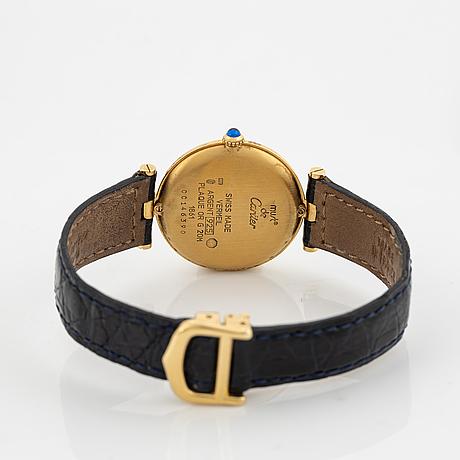 Must de cartier, vlc, wristwatch, 30 mm.