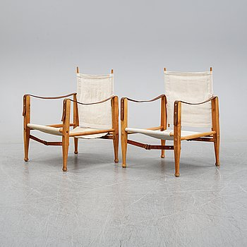 Kaare Klint, a pair of 'Safari Chairs', second half of the 20th Century.