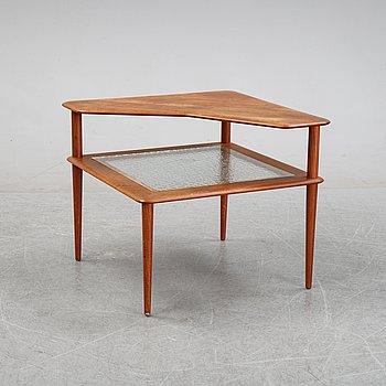 A teak and rattan 'Minerva' coffee table by Peter Hvidt & Orla Mølgaard Nielsen, 1950/60's.