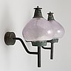 Hans-agne jakobsson, a pair of modell s1591 wall-lights by hans-agne jakobsson ab, mid 20th century.