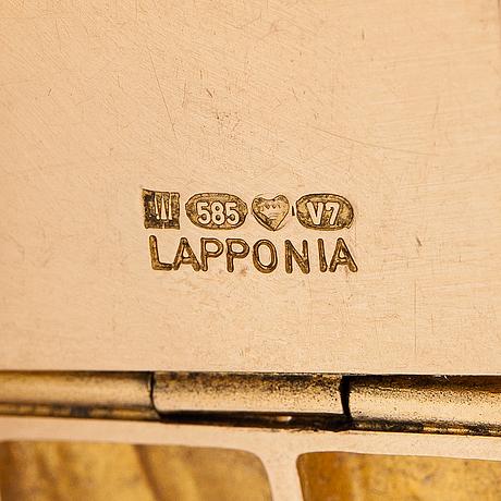 "Björn weckström, ""quadrate forms"" a 14k gold bracelet. lapponia 1974."