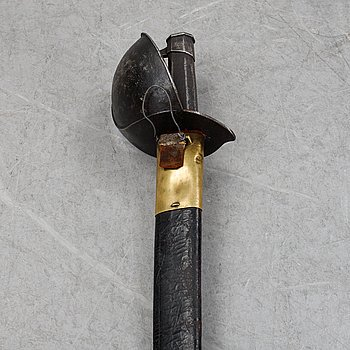 A French naval cutlass, 1801 pattern with scabbard.