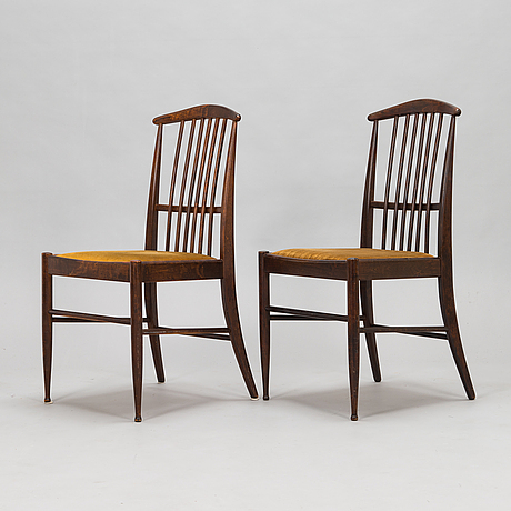 Kerstin hörlin-holmquist, a set of six charlotte chairs with a dining table by asko, finland, 1970s.