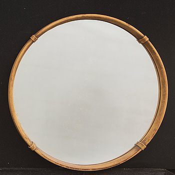 A 1967 leather mirror.