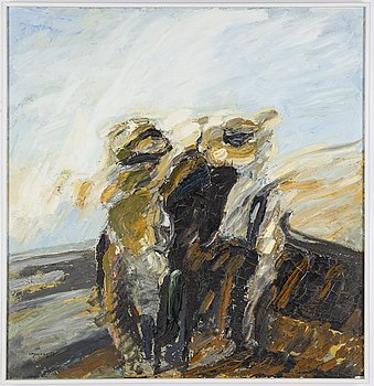 Ivar Morsing, oil on canvas, signed and dated -73.