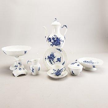 Servis 39 dlr Blå Blomst  Royal Copenhagen 1900-talets senare del porslin.