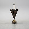 A brass and copper umbrella stand, first half of the 20th century.