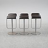 Shin & tomoko azumi, a set of three 'lem' bar stools for lapalma, italy.