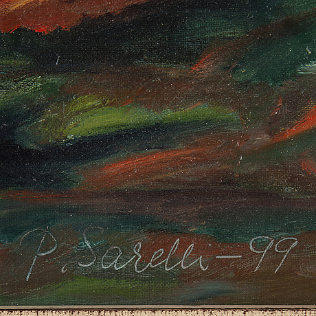 Paavo sarelli, oil on canvas/papaer-panel, signed and dated 1999.
