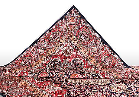 A carpet, kashmar, ca 381 x 244 cm.