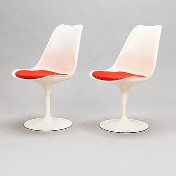 """Eero Saarinen, A set of two """"Tulip"""" chairs, designed 1955-56, for Knoll International."""