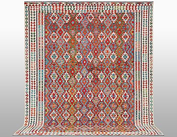 A carpet, Kilim, ca 398 x 310 cm.