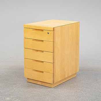 Alvar Aalto, a birch drawer unit, model 'H297' Artek, Finland, 1990.