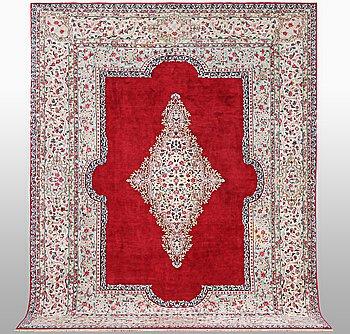 A carpet, Old Kerman, ca 357 x 265 cm.