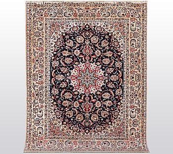 A rug, Isfahan, part silk, ca  226 x 153 cm.