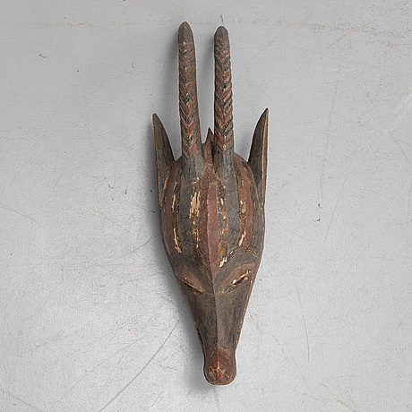 An african mask, late 20th century.