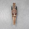 An african mask of 'bobo'-style, late 20th century.