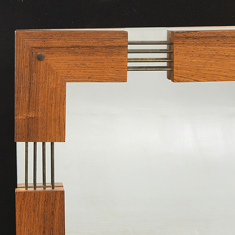 A swedish gt jacaranda mirror 1960/70s.