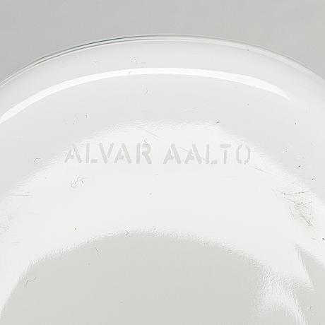 Alvar aalto, vaser, 2 st, den mindre iittalas 100-års jubileumsvas märkt alvar aalto iittala 1881-1981.
