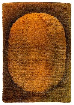 Ritva Puotila, a Finnish ryijy rug for the Friends of Finnish Handicraft. Circa 187x125 cm.