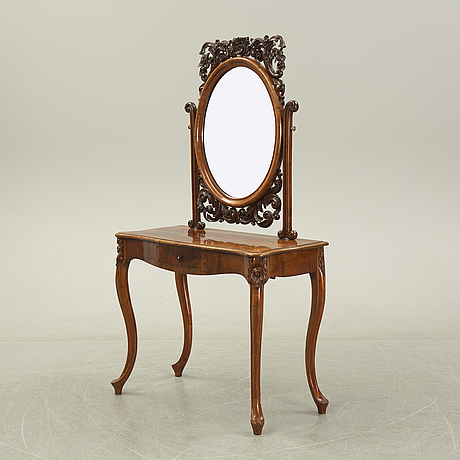 A rococo style dressing table, 19th century.